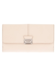 Tod's Front Fastening Wallet Nude And Neutrals