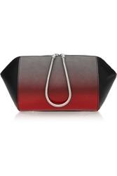 Alexander Wang Chastity Ombre Effect Suede And Patent Leather Cosmetics Case Brown