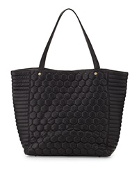 Deux Lux Quilted Honeycomb Tote Bag Black