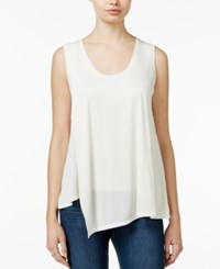 Rachel Rachel Roy Draped Asymmetrical Tank Top White