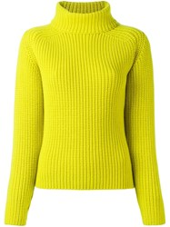 Odeeh High Neck Jumper Yellow And Orange