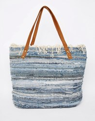 New Look Denim Shopper Blue Pattern