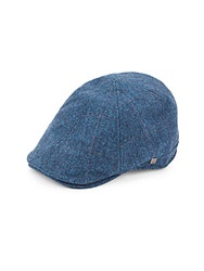 Block Headwear Six Panel Ivy Herringbone Newsboy Cap Indigo