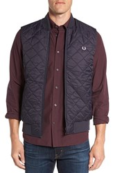 Fred Perry Men's Quilted Vest Navy