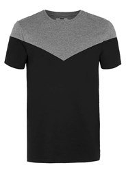 Topman Grey And Black Chevron T Shirt