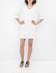 Apiece Apart Bi Level Navona Dress White