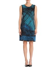 Nic Zoe Sleeveless Relaxed Fit Dress Blue Multi