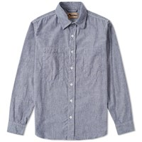 Nigel Cabourn X Lybro Workers Shirt Blue