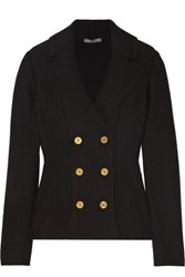 Alexander Mcqueen Double Breasted Wool Blend Peplum Blazer Black