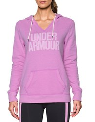 Under Armour Attached Hooded Long Sleeve Pullover Violet