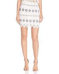 Lovers Friends Incense Lace Mini Skirt Ivory