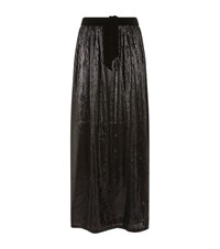 Armani Collezioni Sequin Maxi Skirt Female Black