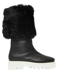 Walter Steiger 40Mm Baden Rabbit Fur And Leather Boots