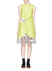 Chictopia Letter Embroidery Tape Woven Tulle Dress