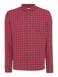 Criminal Men's Hamstead Brushed Check Shirt Red