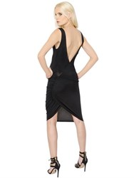 Alexandre Vauthier Open Back Stretch Viscose Jersey Dress