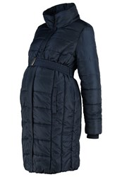 Mama Licious Mlquilty Winter Coat Navy Blazer Dark Blue