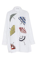 Dice Kayek Parasol Collared Shirt White