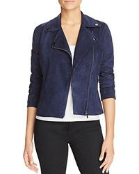 Bagatelle Faux Suede Moto Jacket Navy