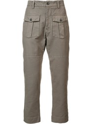 Wooster Lardini Cargo Pocket Trousers Brown