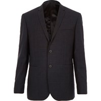 Vito River Island Mens Dark Grey Blazer