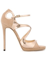 Jimmy Choo 'Fancie' Sandals Nude And Neutrals