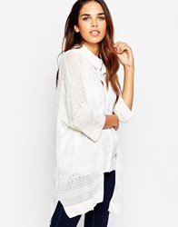French Connection Isra Knits Oversized Cardi White