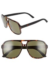 Gucci Men's Logo Temple 59Mm Aviator Sunglasses