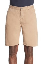 The Kooples Cotton Chino Shorts Beige