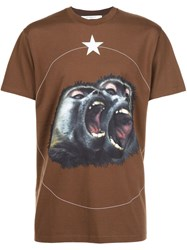 Givenchy Monkey Brothers T Shirt Brown