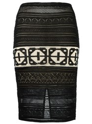 Cecilia Prado Knit Midi Skirt Black