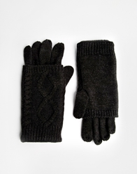 Asos 2 In 1 Palmwarmer Gloves Black