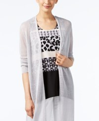 Alfani Lightweight Open Front Duster Cardigan Only At Macy's New City Silver
