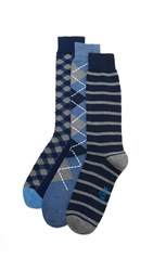 The Tie Bar Navy Basic 3 Pack Socks