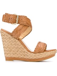 Stuart Weitzman Wedge Sandals Brown