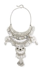 Raga Gypsy Coin Statement Necklace Silver