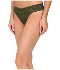 Hanky Panky Signature Lace Original Rise Thong Woodland Green Women's Underwear