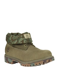 Timberland Icon Roll Top Leather Ankle Boots Green