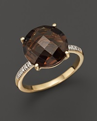 Bloomingdale's 14K Yellow Gold Round Smoky Topaz Ring Brown