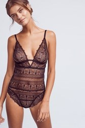 Anthropologie Else Ivy Decollete Bodysuit Black