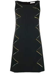 Versace Collection Studded Shift Dress Black