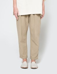 Black Crane Quilted Pant Sand