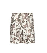 Tory Burch Mikado Wool And Silk Blend Shorts White