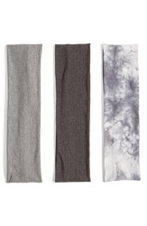 Berry Stretchy Head Wraps Grey Set Of 3 Grey Multi