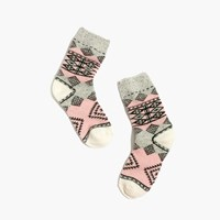 Madewell Diamond Carpet Trouser Socks Dusty Blush
