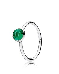 Pandora Design Ring Sterling Silver And Glass May Droplet