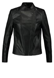 Kiomi Faux Leather Jacket Black