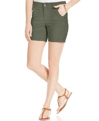 Style And Co. Petite Studded Detail Short Shorts Olive Sprig