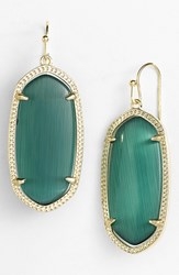 Women's Kendra Scott 'Elle' Drop Earrings Emerald Cats Eye