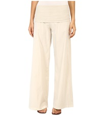Xcvi Fold Over Palazzo Chalk Women's Casual Pants White